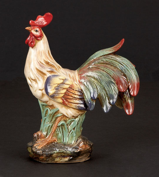 """12"""" Large Ceramic ROOSTER Figurine Statue Chicken NEW"""