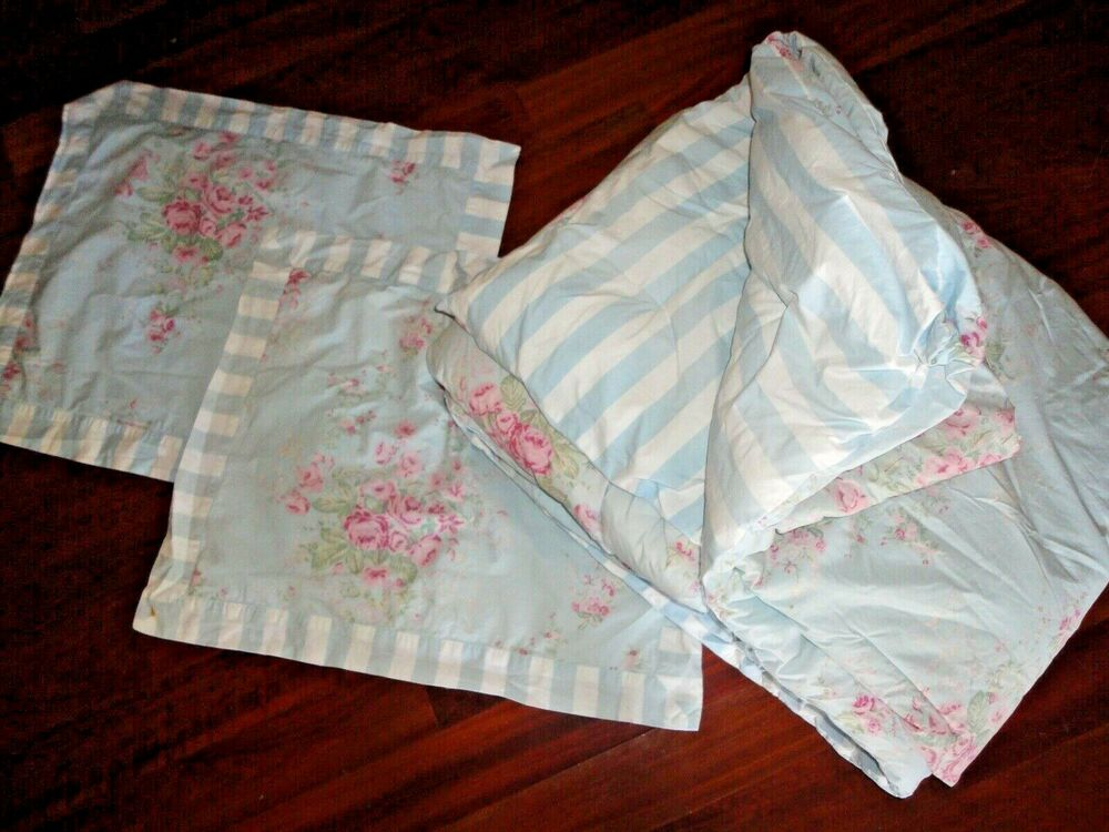 Simply Shabby Chic 3pc Full Queen Comforter Set Blue