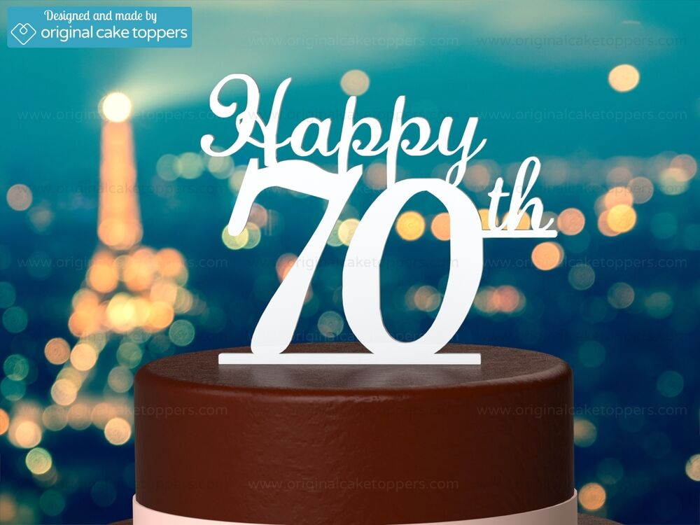 Details About Happy 70th