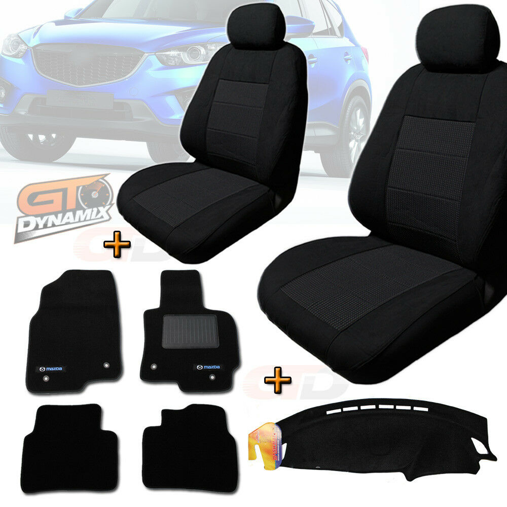 MAZDA CX 5 MAXX Black SEAT COVERS FLOOR MATS Amp DASH MAT