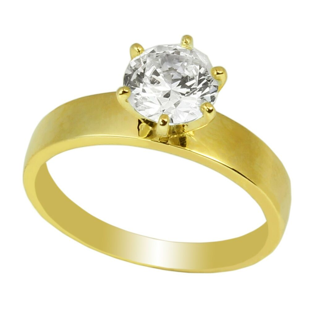 Ladies 10k Yellow Gold Solid Solitaire Ring 10ct Cz Clear. Rounded Diamond Engagement Rings. Branch Wedding Rings. Trilliant Engagement Rings. Petoskey Stone Wedding Rings. Sonar Engagement Rings. Oversized Wedding Rings. Cushion Shape Engagement Wedding Rings. 0.5 Carat Rings