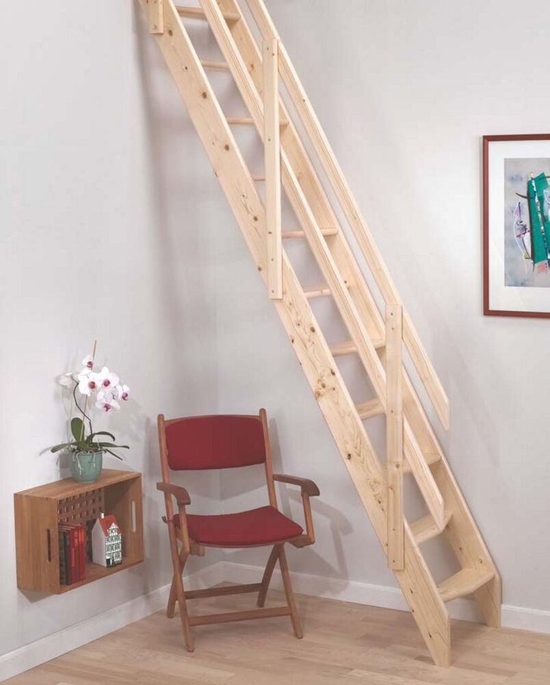 Amsterdam Wooden Space Saver Staircase Kit (Loft Stair