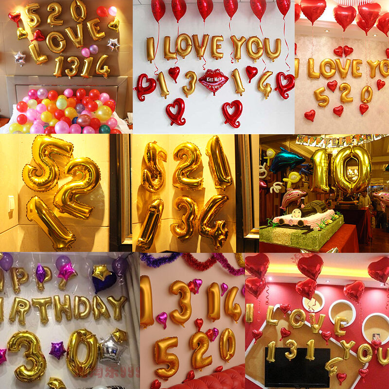 Party alphabet letter foil baloons 16inch custom shaped for Alphabet decoration