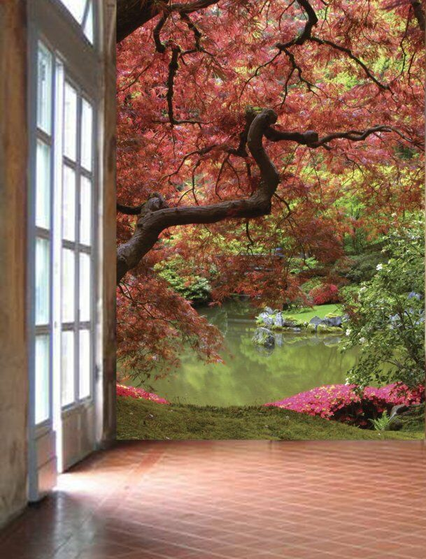 Japanese Garden-Wall Mural-6'wide By 8'high