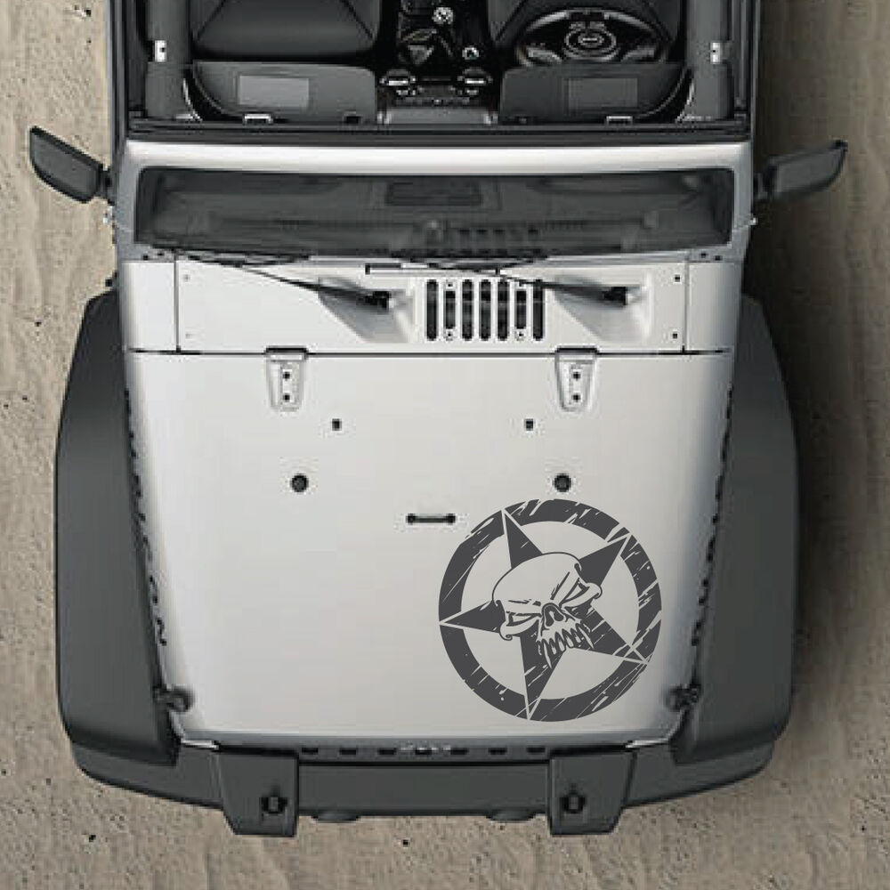 Distressed Army Star Graphic Decal Renegade Side Hood Jeep