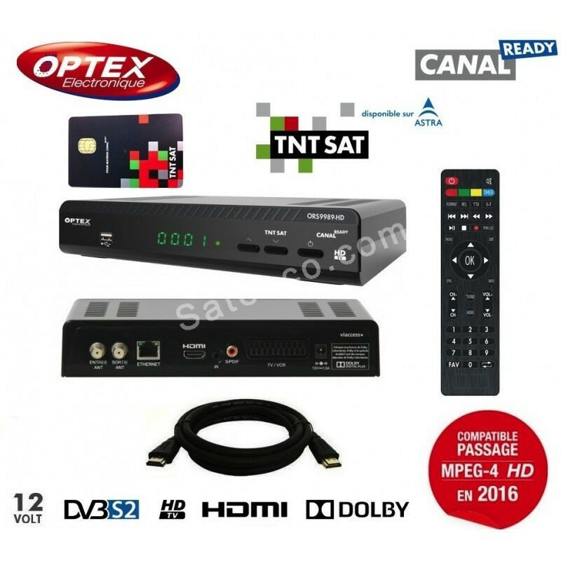 optex decodeur hd tnt satellite carte tntsat astra. Black Bedroom Furniture Sets. Home Design Ideas