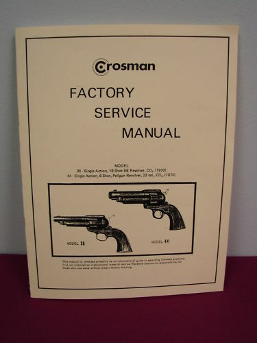 crosman model 36   44 service manual   w  added pages ebay crosman 2100 repair manual crosman 2100 repair manual