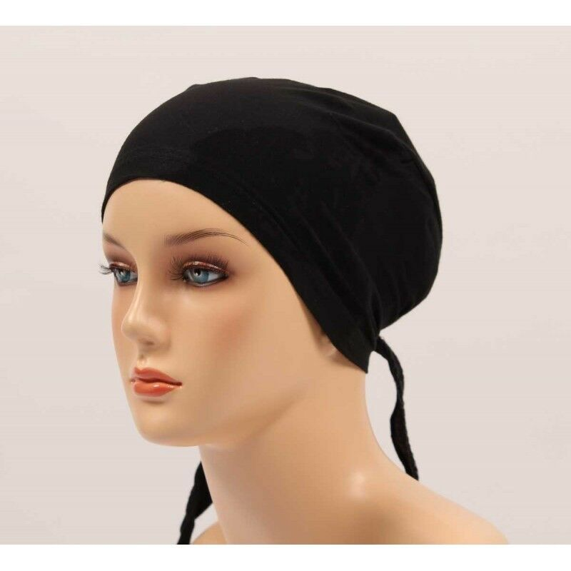 Details about Top quality Stylish Under Scarf Bonnet Tie Back Cap for Hijab  Head Scarf Chemo bdee051267b