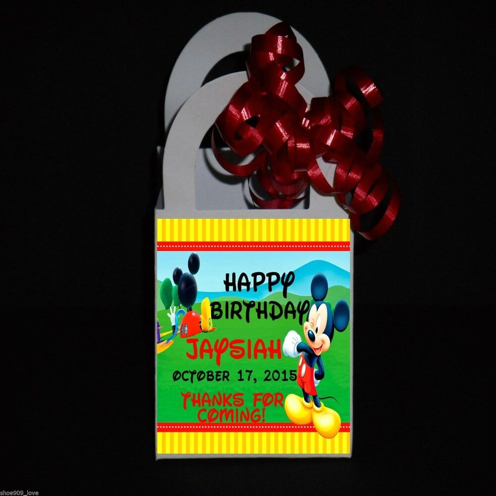 Personalized Party Favor Boxes Birthday : Mickey mouse clubhouse personalized favor boxes