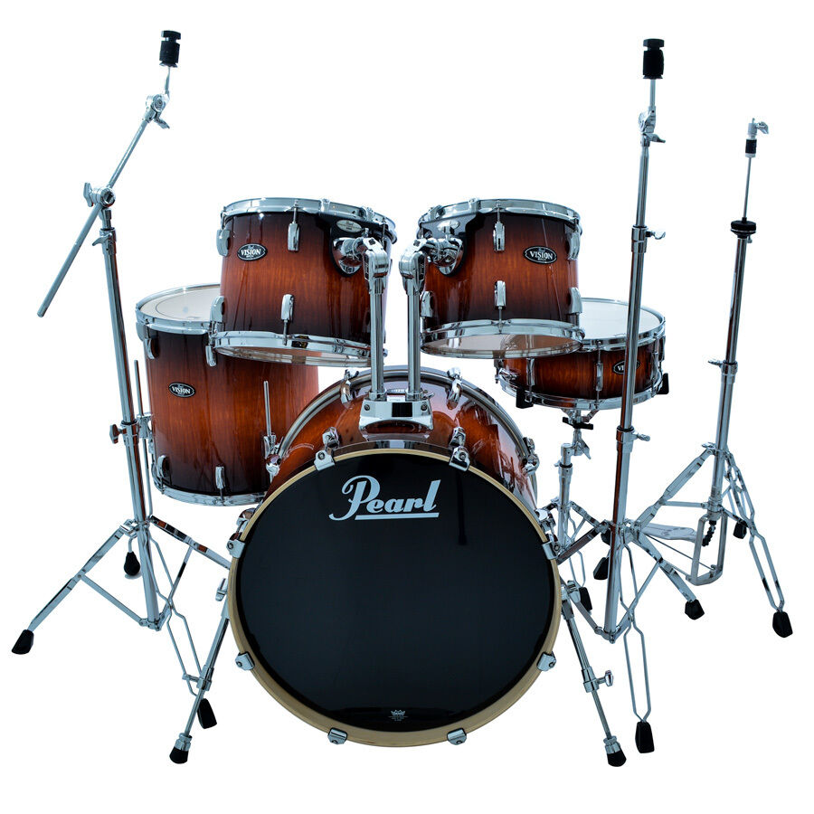 NEW PEARL VISION BIRCH ARTISAN II VBA825P DRUM SET W/830 ...