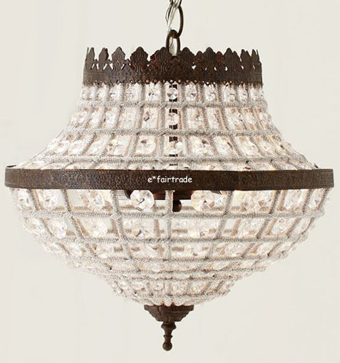 Pottery Barn Chandelier Wiring Instructions: POTTERY BARN Dalila Beaded Crystal Pendant Chandelier, NEW