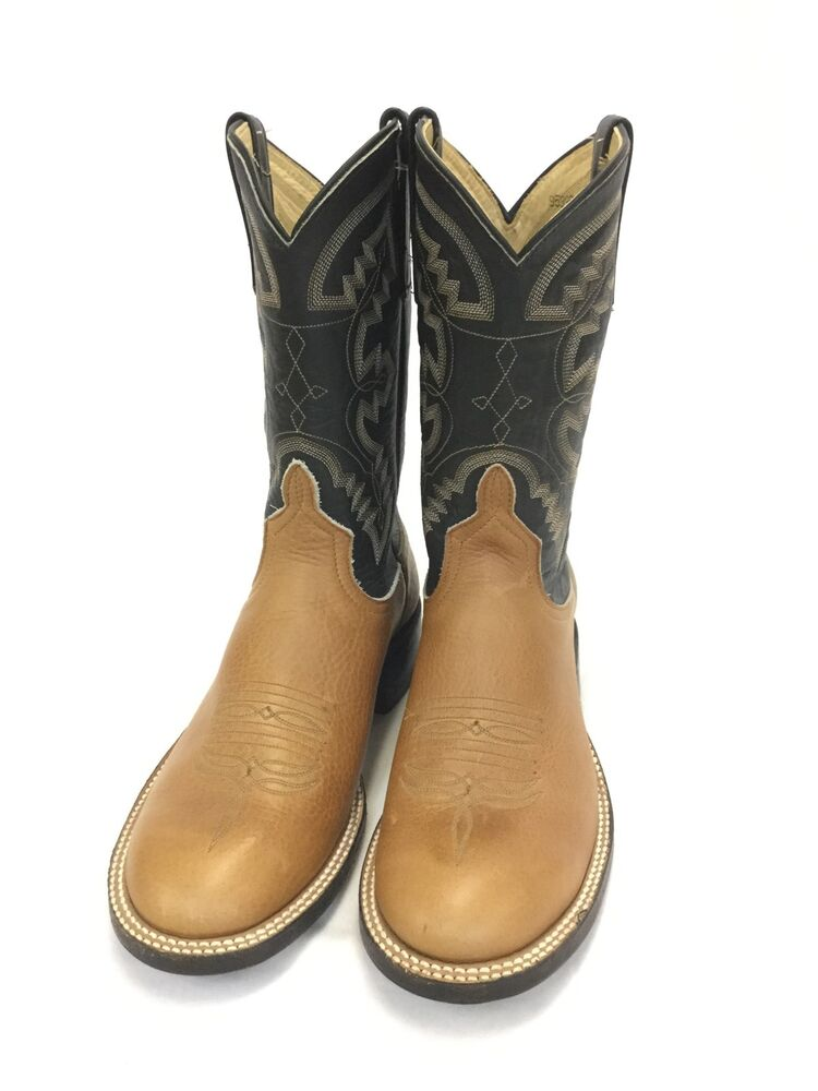 Women S Anderson Bean Tan Round Toe Boots W Black Tops