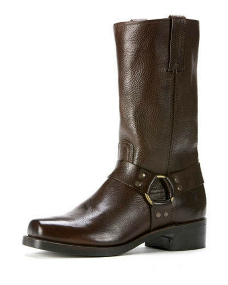nib new frye s belted harness 12r leather boots