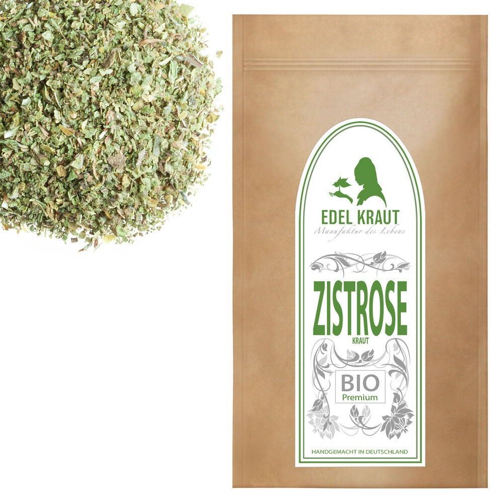 250g bio zistrosenkraut tee edel kraut premium cistus incanus zistrose ebay. Black Bedroom Furniture Sets. Home Design Ideas