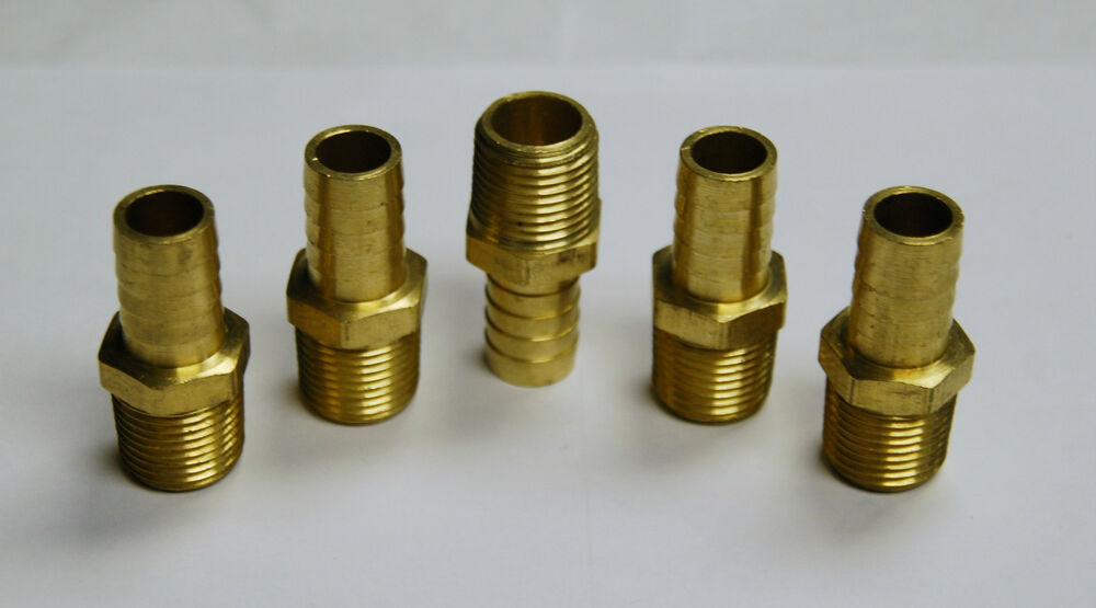Brass fittings male hose barb pipe size