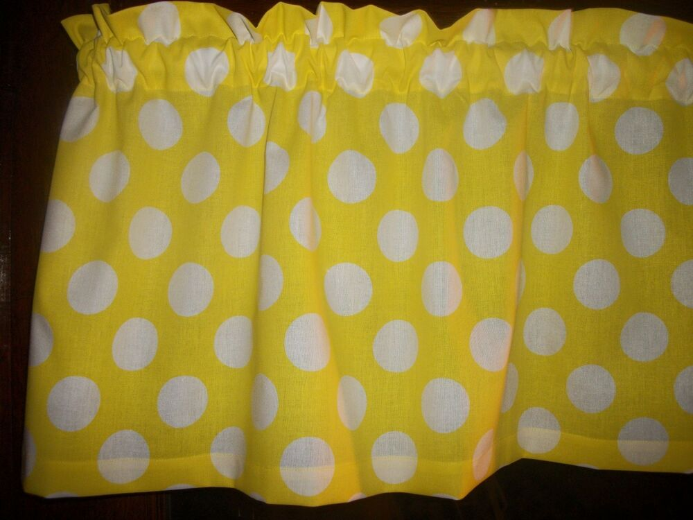 Yellow Large Polka Dot Retro Mid Century Cotton Fabric