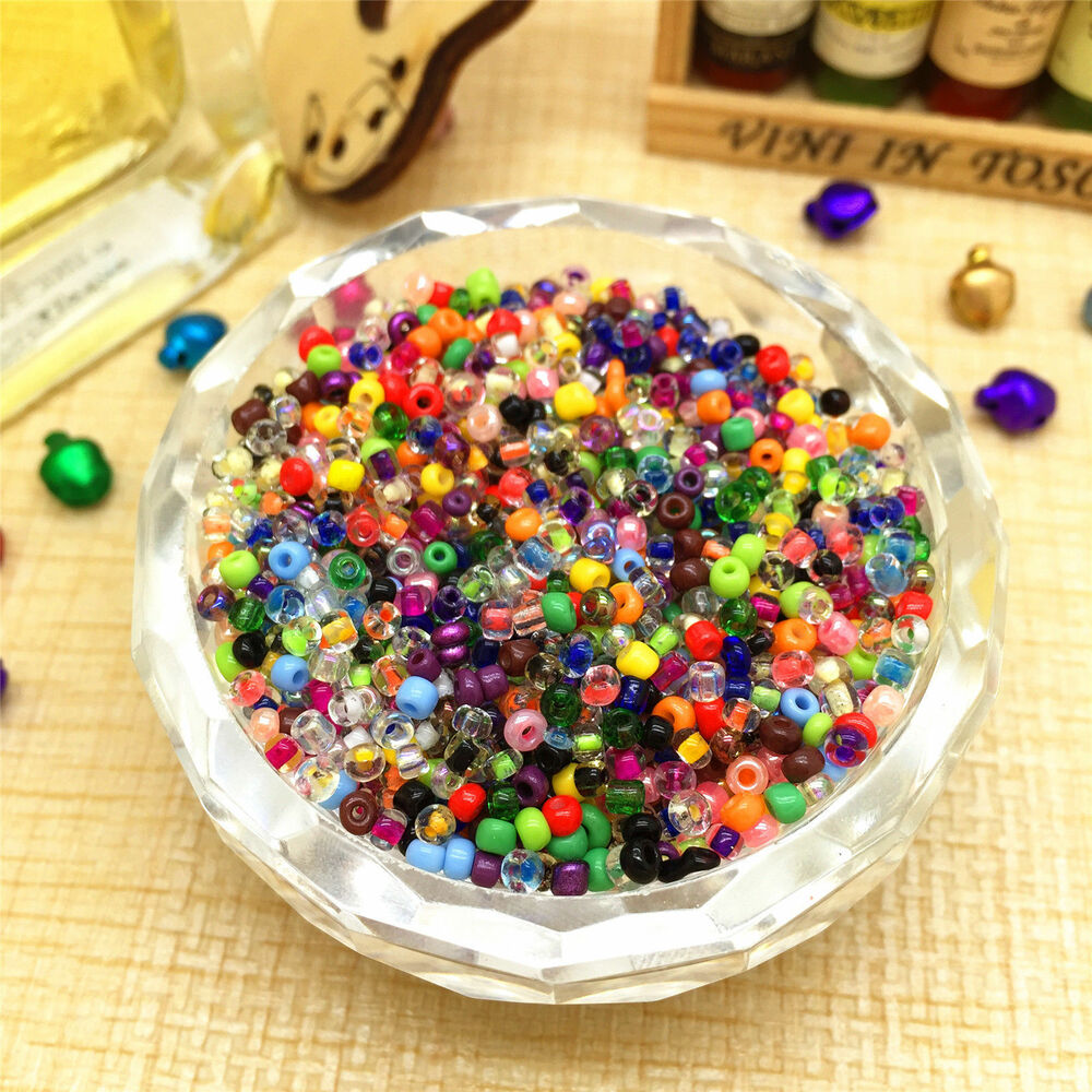 1000pcs mixed round czech glass seed loose spacer beads for Natural seeds for jewelry making