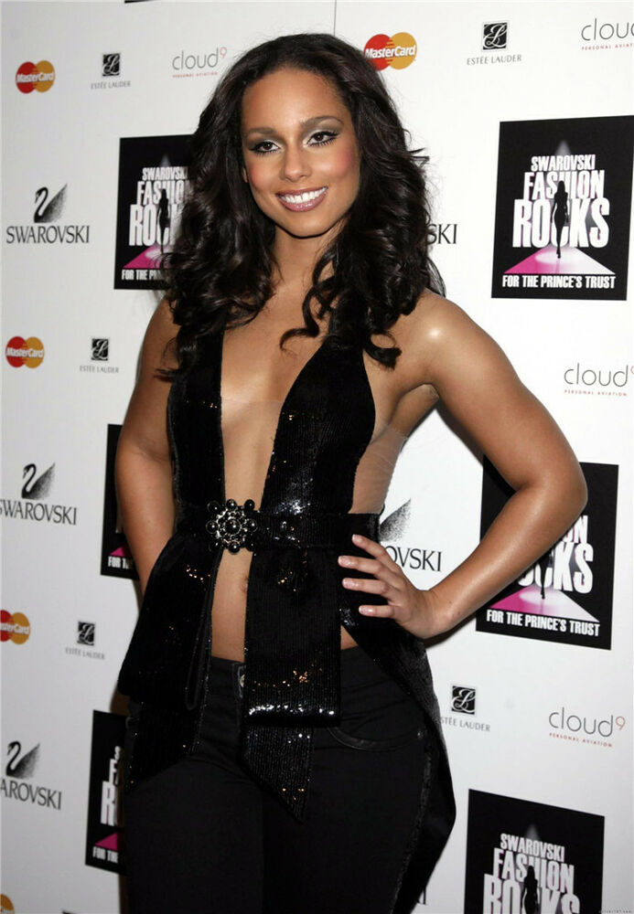 Details about Alicia Keys Pop Hot Singer Girl Sexy Star Wall Poster 34