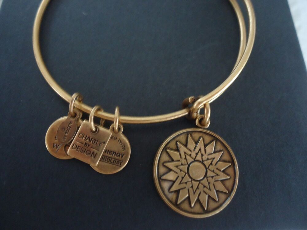 Alex And Ani New Beginnings Russian Gold Charm Bangle New