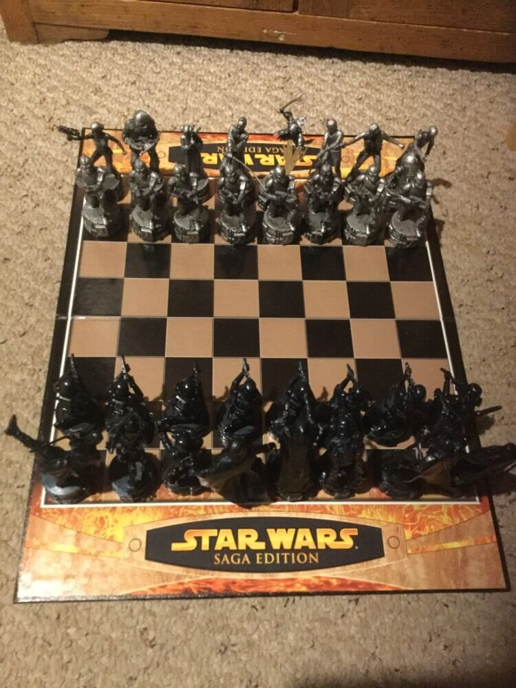 Pre Owned But Complete Star Wars Saga Edition Chess Set