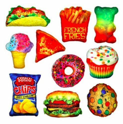 Nwt decorative food fight pillow 39 s 10 styles fun gift free shipping ebay - Decoratie snack ...