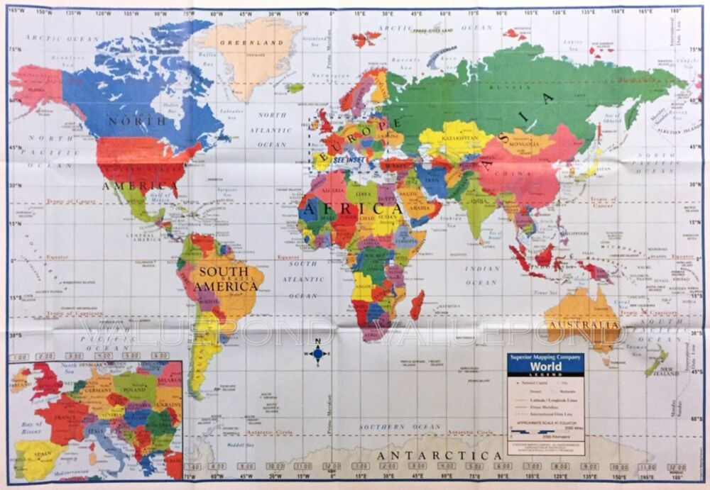 world map poster size wall decoration large map
