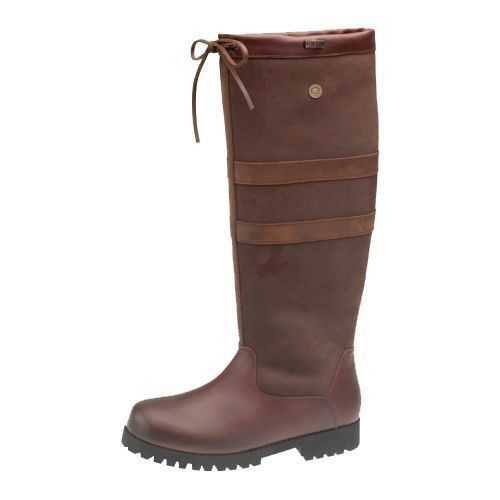 catesby stratford wide leg brown leather knee high