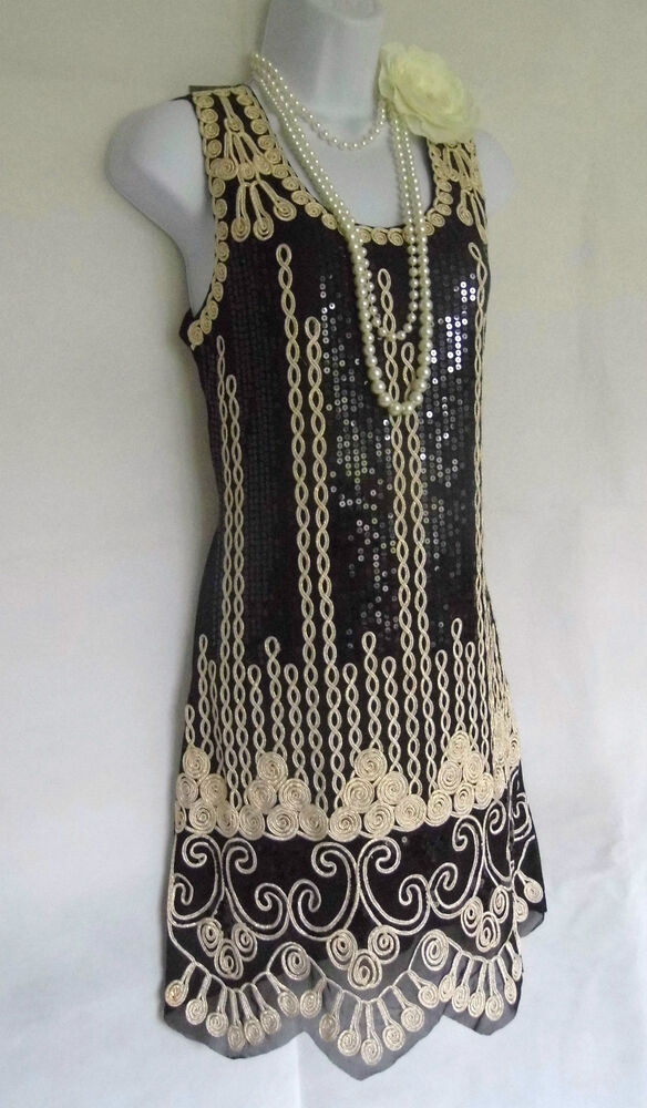 1920 S Style Gatsby Vintage Look Charleston Sequin Flapper