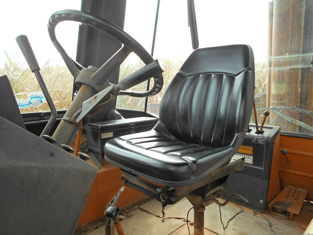 Case 580l Backhoe Seat : Case backhoe loader c d e l m black seat