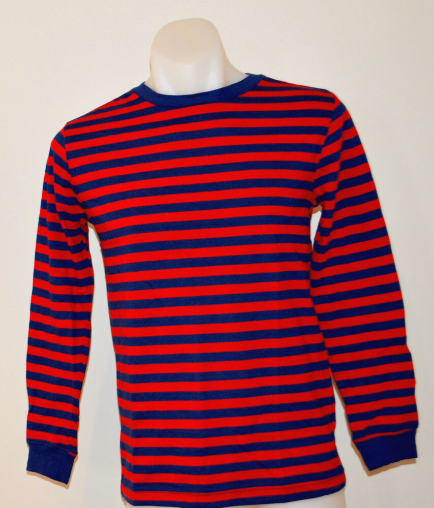 Gap boys long sleeve stripe t shirt red blue sizes 5 6 for 7 year old boy shirt size