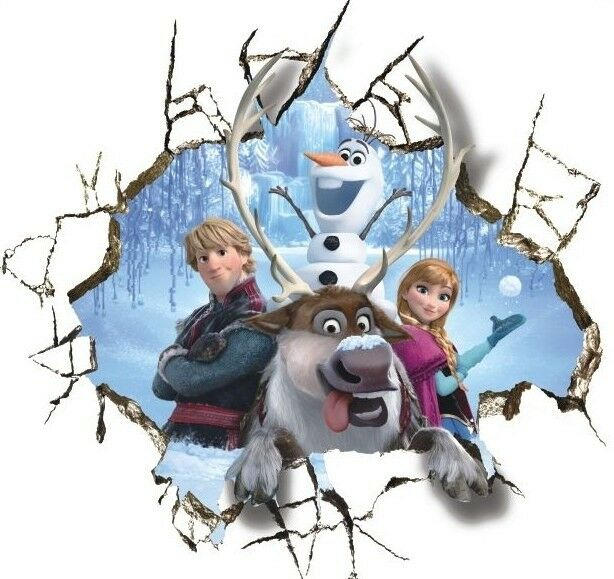Huge 3d Frozen Inspired Anna Olaf Breaking Through Wall