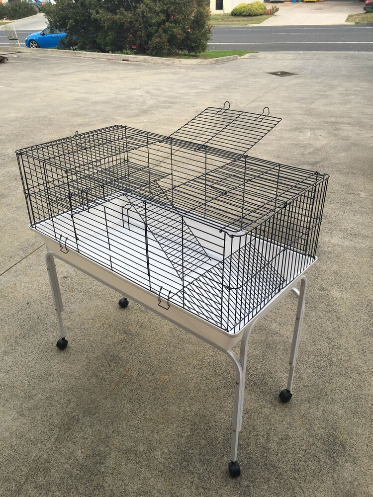 Rabbit guinea pig cage and stand 1m rabbit hutch rabbit for Guinea pig stand