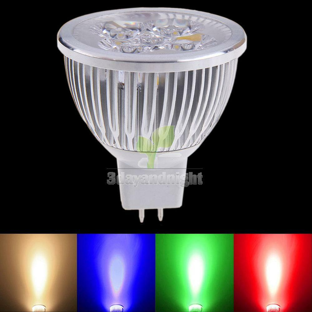 4 Colors Mr16 4w 12v 320lm Led Light Bulb Spotlight Low Power Lamp Energy Saving Ebay