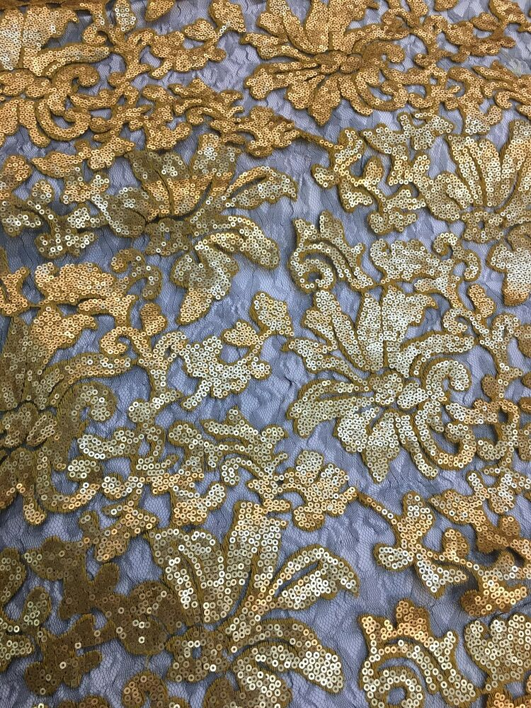 Gold with mesh beyonce floral fashion with sequins lace for Sequin fabric