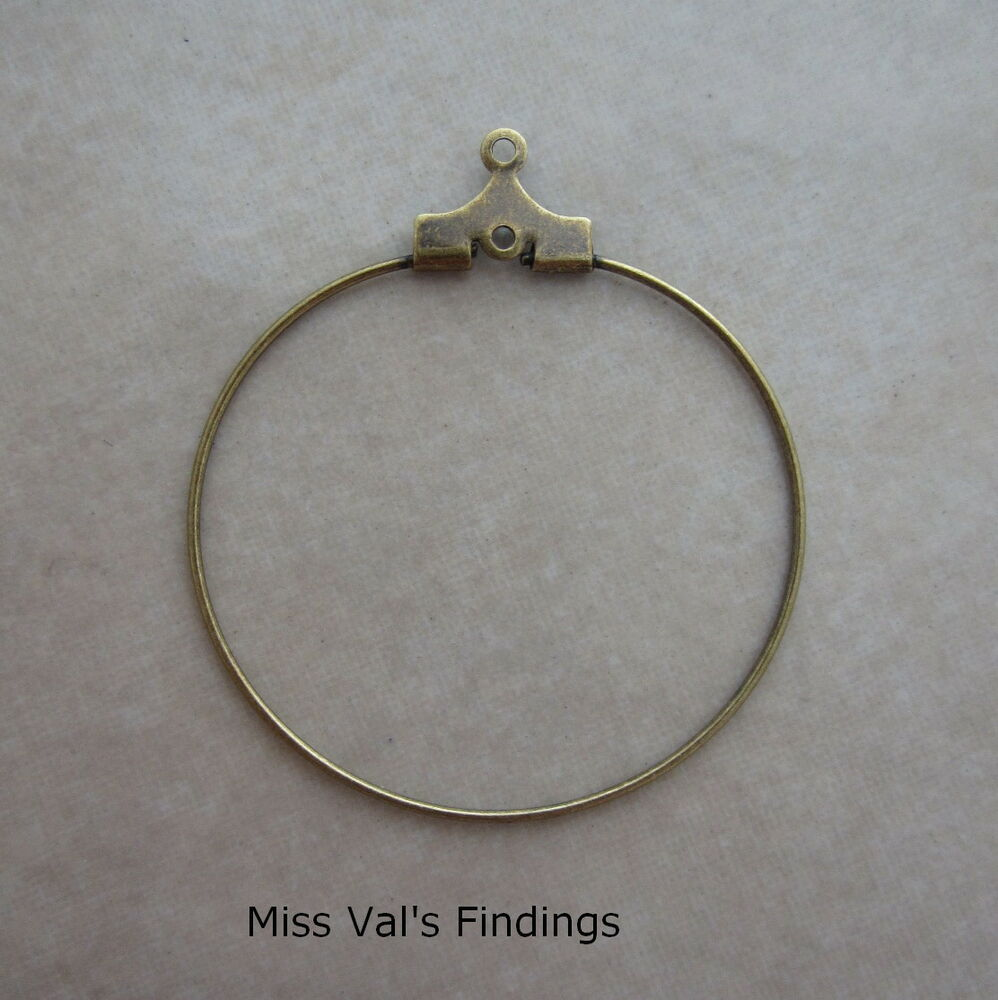 24 antiqued gold beading hoops findings jewelry making