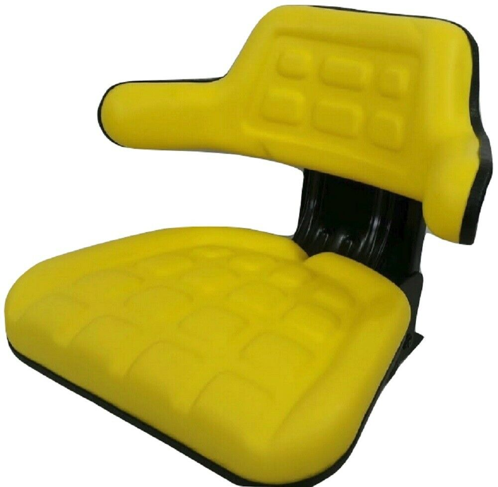 Universal Farm Tractor Seats : Tractor seat yellow waffle farm tractors universal fit