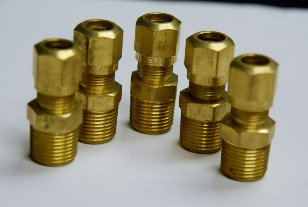 Brass fittings dot air brake male connector tube od