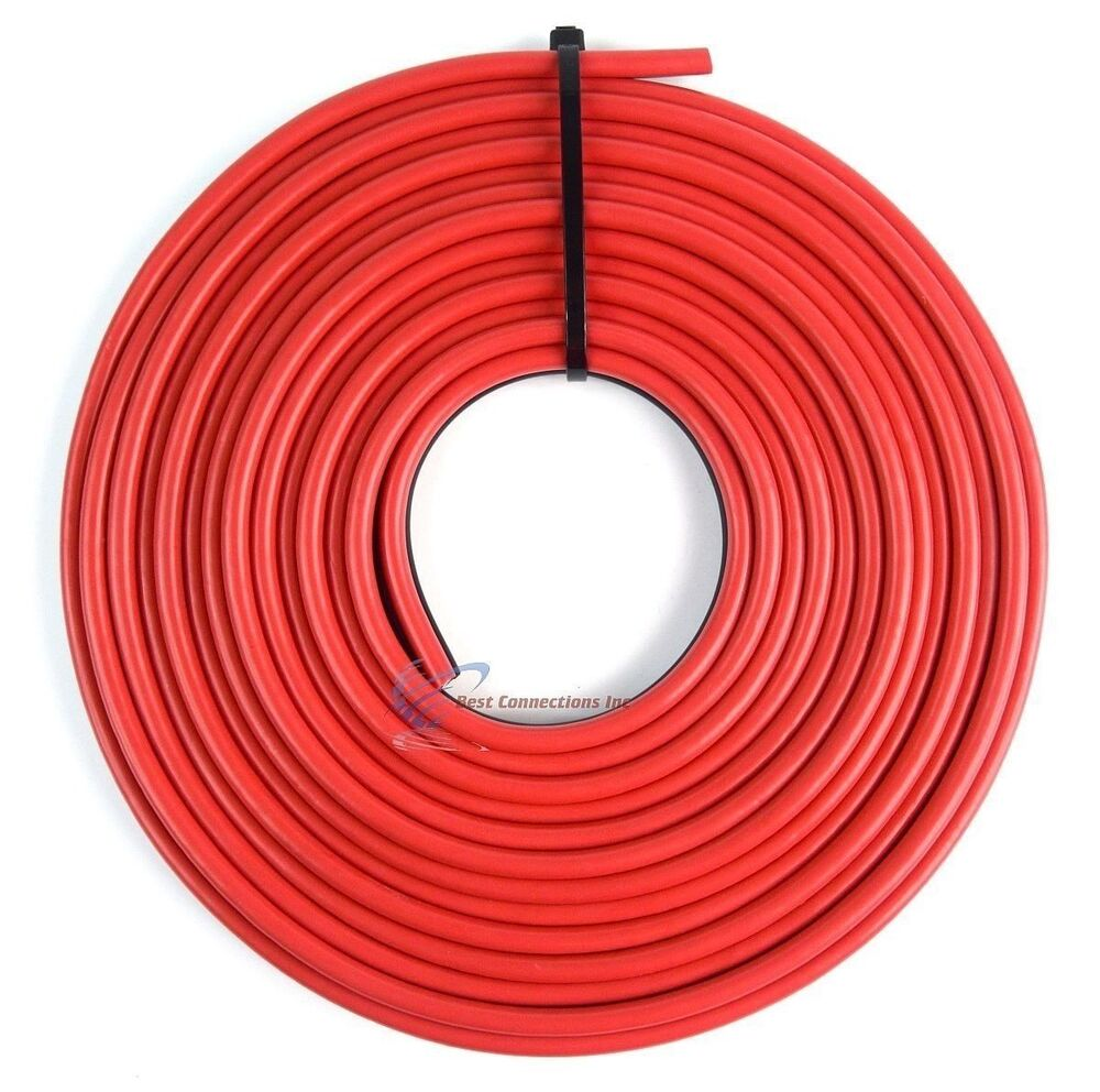 Red And Black Speaker Wire : Ga speaker wire red and black zip cable power ground car