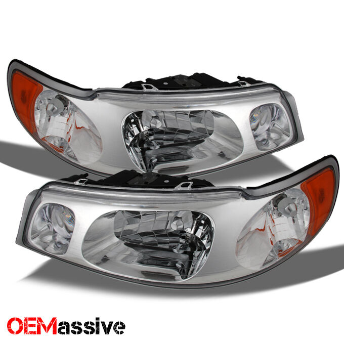 1998 2002 lincoln town car replacement headlights left right clear head lamps ebay. Black Bedroom Furniture Sets. Home Design Ideas