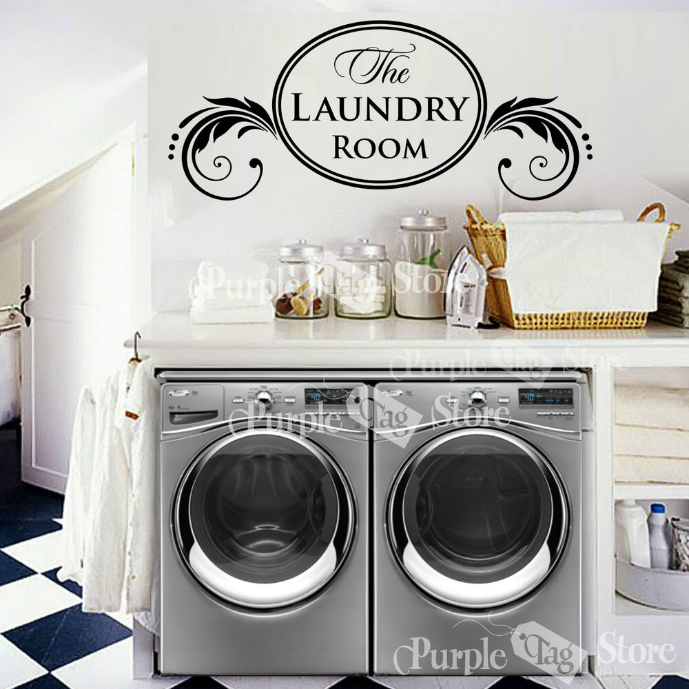 Laundry Room Wall Decor Stickers : The laundry room vinyl wall art home decoration quote