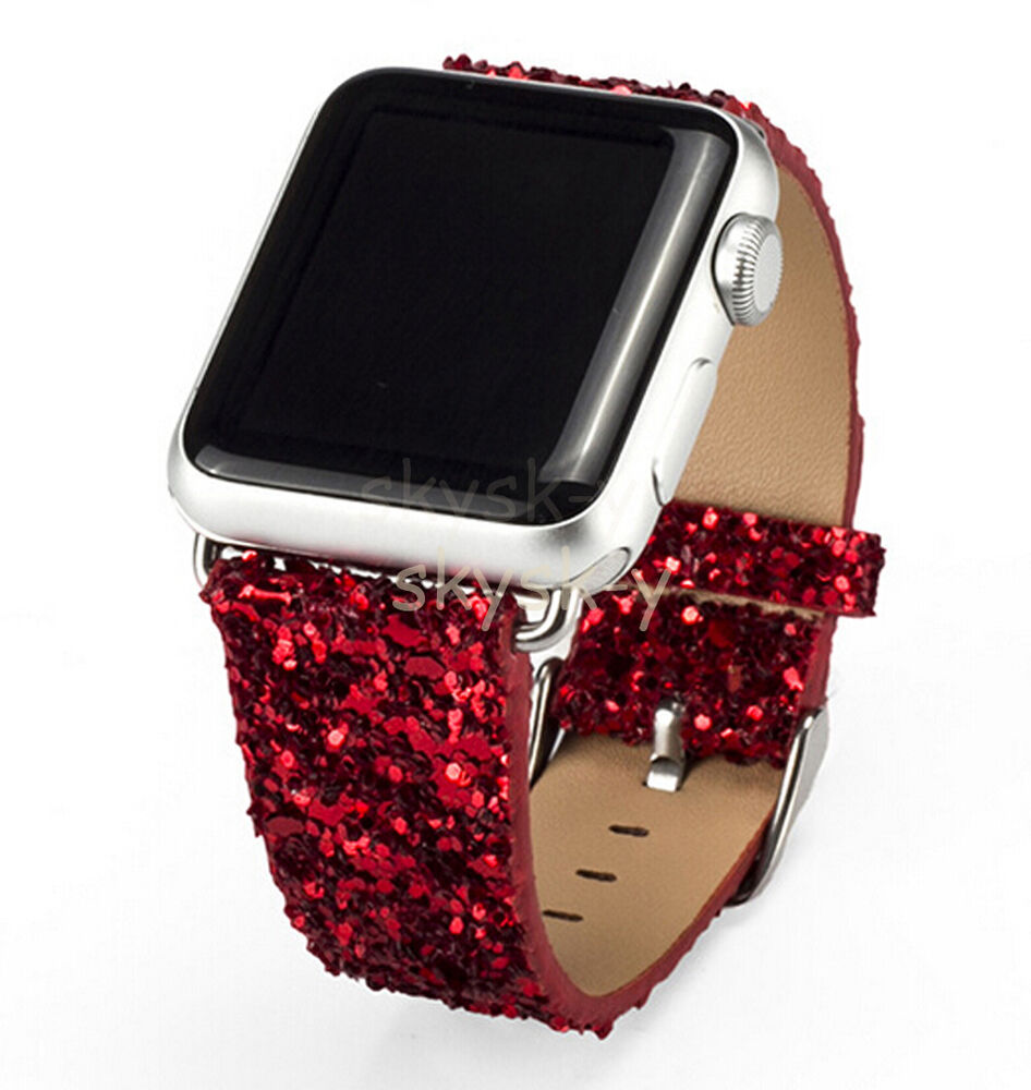 Hot Bling Luxury Glitter Leather Strap Band Belt Adapter