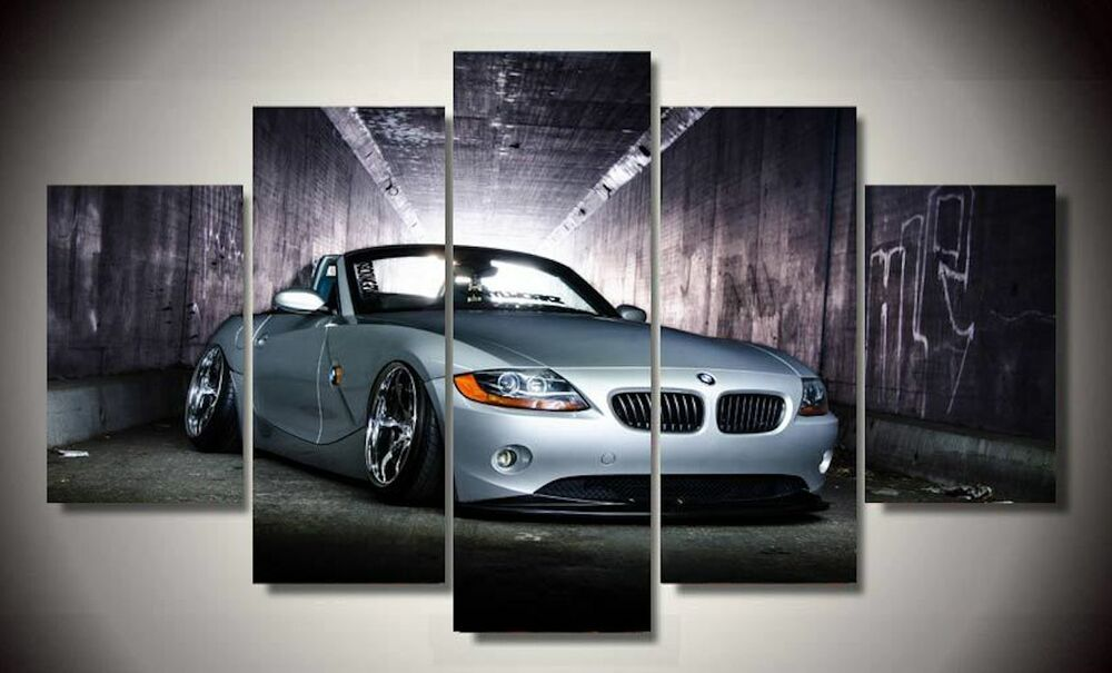 Framed Picture White Bmw Z4 Super Car Supercar Wall Art