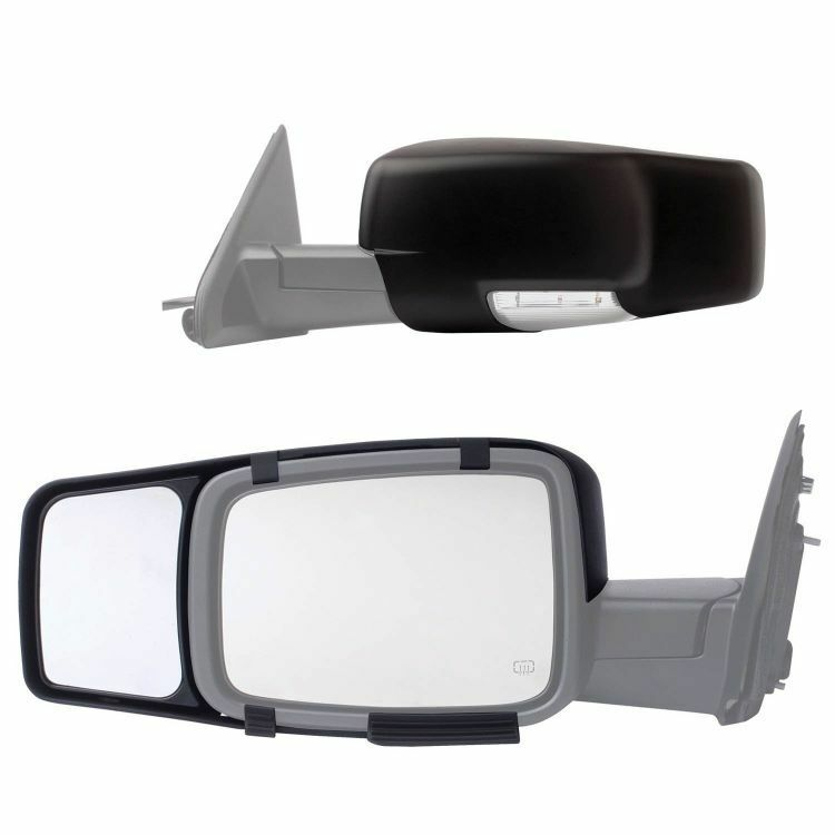 new clip snap on tow mirror extension 2016 chevy silverado 1500 2500 3500 pair ebay. Black Bedroom Furniture Sets. Home Design Ideas