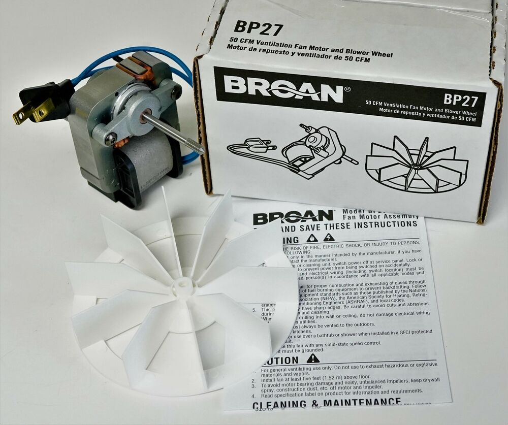 Bp27 Broan Nautilus Vent Bath Fan Motor For 99080404 662 668 678 99080404 50n2 Ebay