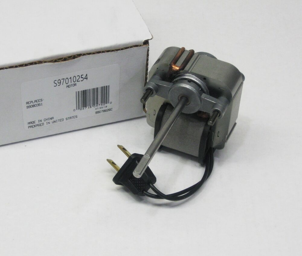 97010254 broan nutone vent bath fan motor for models for Bathroom exhaust fan replacement