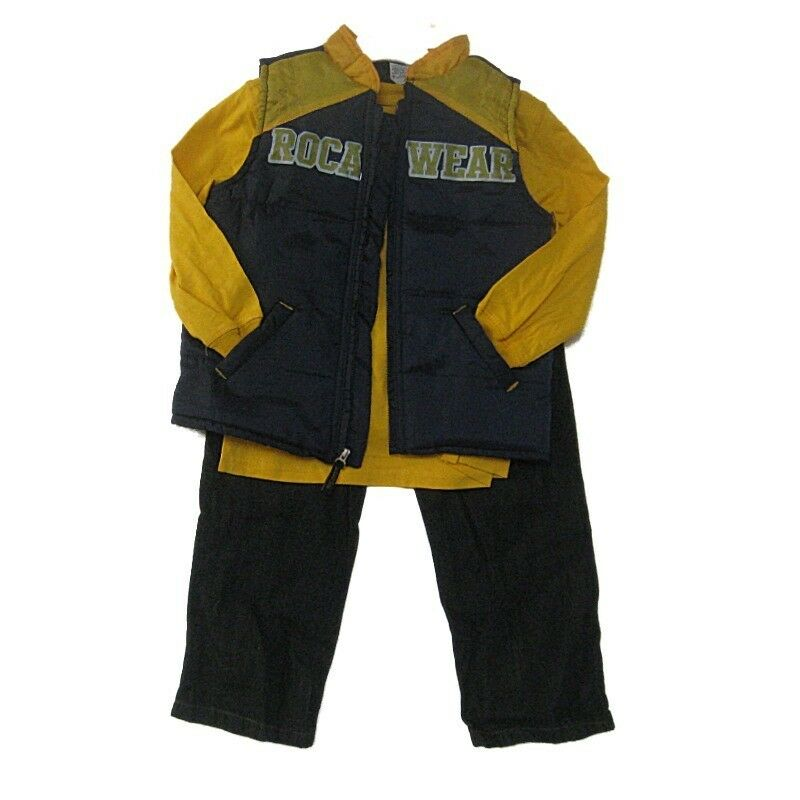 New Rocawear Toddler 3 Piece Outfit Size 2T 4T Long Shirt