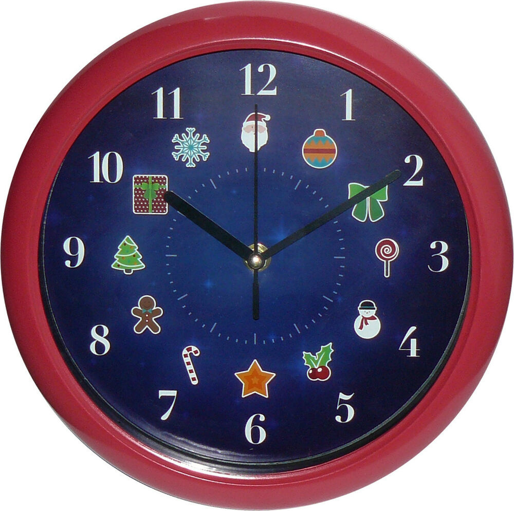 Musical christmas analog wall clock cm ebay