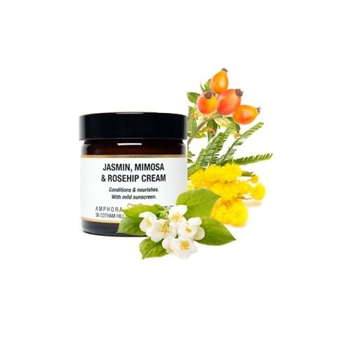 Jasmin, Mimosa & Rosehip Cream 60ml. Conditioning and nourishing.