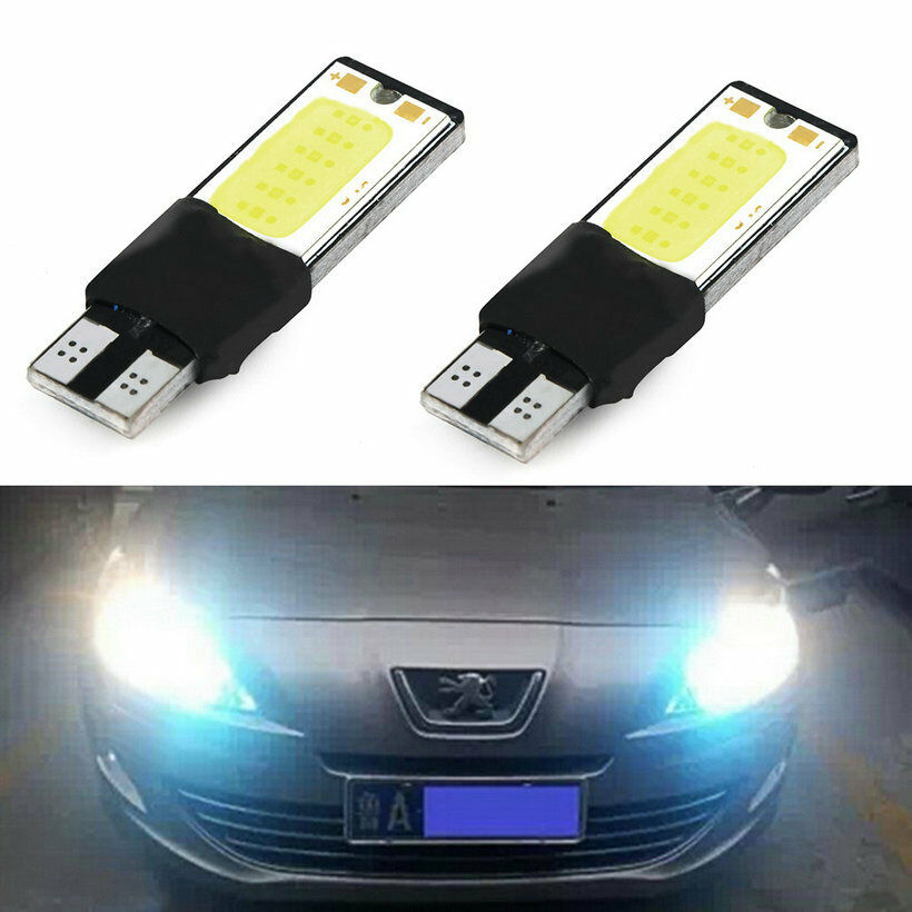 2pcs 6w bright t10 led auto car interior cob width wedge bulb light 12v white ul ebay. Black Bedroom Furniture Sets. Home Design Ideas