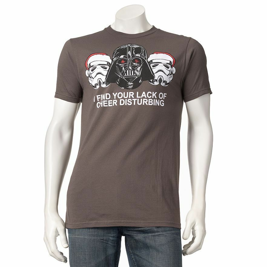 star wars christmas tee lack of cheer disturbing t shirt the force awakens funny ebay. Black Bedroom Furniture Sets. Home Design Ideas